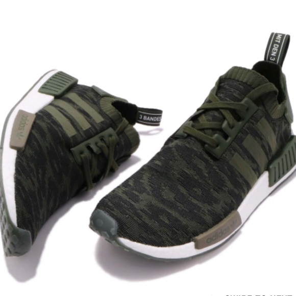 low priced a4f5f bfac7 NWT Adidas NMD R1 Primeknit Night Cargo